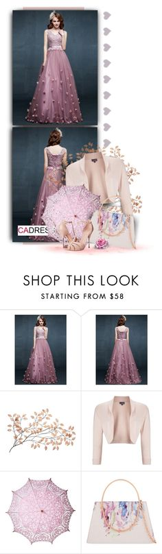 """Flowers Floor-Length Prom Dress by Cadress"" by christiana40 ❤ liked on Polyvore featuring Phase Eight, Ted Baker and Alexander McQueen"