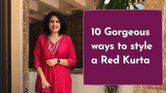 Red Kurta, Indian Wear, Sari, How To Wear, Style, Fashion, Saree, Swag, Moda