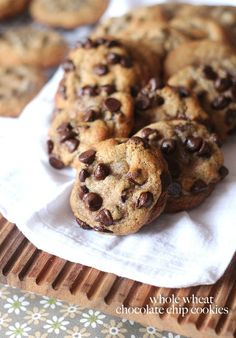 Whole Wheat Chocolate Chip Cookies ... your family will LOVE these..the whole wheat flour makes these chewy and delicious! And your kids will never know the difference!