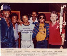 """Rockwell and Michael. The """"Somebody's Watching Me"""" sessions. 1984."""