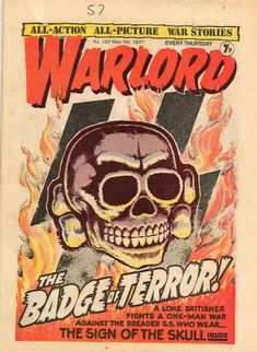 "Warlord May ""The Badge of Terror"" 1970s Childhood, My Childhood Memories, Comic Books Art, Comic Art, Graphic Novel Art, War Comics, Best Book Covers, Cool Books, Classic Comics"