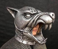 Game of Thrones Silver Dog the Hound Amour Helmet Latex Full Costume Mask