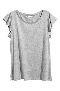 Jersey top - Grey marl - Ladies   H&M GB