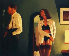 Jack Vettriano (born 17 November birth name Jack Hoggan) is a Scottish painter. Vettriano grew up in Methil, Fife, an industrial seaside town. He did not start painting until the when a girlfriend gifted him a set of watercolors for his birthday. Jack Vettriano, Estilo Gigi Hadid, How Do You Stop, Pulp Art, Pin Up Art, Rene Magritte, Pulp Fiction, Erotic Art, Cool Girl