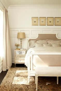 12 Romantic Bedrooms These bedrooms score high marks for their fabulous country French aesthetic and supremely relaxing auras. French Country Bedrooms, French Country Style, Farmhouse Bedrooms, Retro Chic, Feng Shui, Home Decor Bedroom, Bedroom Ideas, Master Bedroom, Bedroom Designs