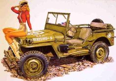 Semper Fi- WWII Marines jeep pin