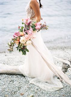 Colorful pink wedding bouquet: Photography: Katie Grant - http://www.katiegrantphoto.com/