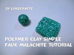 Faux Malachite ~ Polymer Clay Tutorials