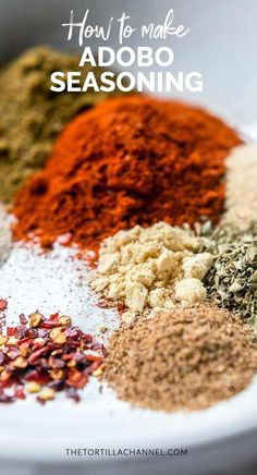 Another great hand mixed spice blend. We are making adobo seasoning that you can use to flavor you beef, chicken or fish recipes. Homemade Dry Mixes, Homemade Spice Blends, Homemade Spices, Homemade Seasonings, Spice Mixes, Adobo Seasoning, Seasoning Mixes, Fish Seasoning Recipe, Mexican Seasoning
