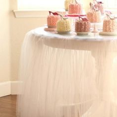 Tutu Table cloth -- in black, gray or dark blue for gift table or some other table