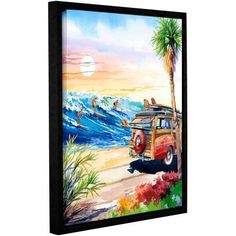 ArtWall Bill Drysdale Endless Summer Gallery-Wrapped Floater-Framed Canvas, Size: 18 x 24, Green