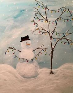 29 Ideas Painting Canvas Ideas Abstract Pictures For 2019 Easy Canvas Painting, Winter Painting, Winter Art, Diy Canvas, Easy Paintings, Canvas Art, Canvas Ideas, Canvas Paintings, Diy Painting
