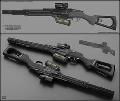 Concept of concept of sci fi shotgun for fictional scenario. Eclipse - concept of sci fi shotgun Anime Weapons, Sci Fi Weapons, Weapons Guns, Fantasy Weapons, Military Weapons, Ninja Weapons, Robot Concept Art, Weapon Concept Art, Robot Art