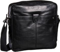 Marc O´Polo Crossbody Bag L Veg Oily Buffalo Black - Umhängetasche