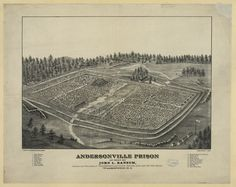 "Andersonville Prison as seen by John L. Ransom, author and publisher of ""Andersonville diary, escape and list of the dead,"" Washington, D.C. 1 print : lithograph ; 55.8 x 70.6 cm (sheet) 