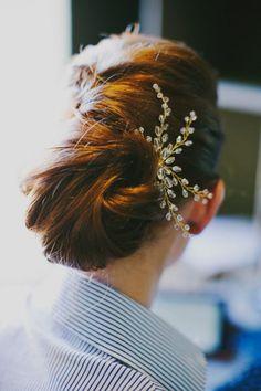 f7c5a7a98cae3 Twisty modern french wedding up do with jewel headpiece Hairdo Wedding