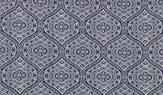 Duralee Fabrics    John Robshaw Designer Collection  Indigo - Turquoise - book # 2840    Pattern/Color: 15447-193  Description: Indigo