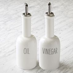 Labeled Kitchen Oil + Vinegar Dispensers $14