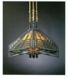 Frank Lloyd Wright, Hanging Lamp (reproduction), Susan Lawrence Dana Thomas House, 1903. Courtesy of Frank Lloyd Wright Foundation, Scottsdale, AZ.