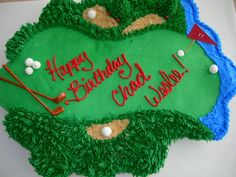Golf Cupcake Cake for Chad Weslee - My nephew is very serious about his golfing. He really loved the cake. I was pleased with this one though. Thanks for looking Golf Cookies, Golf Cupcakes, Cupcakes For Men, Cupcake Cookies, Pull Apart Cake, Pull Apart Cupcakes, Golf Course Cake, Golf Birthday Cakes, Cake Pop Sticks