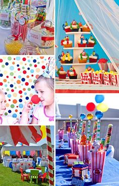 Circus birthday party! Wanna do this for Brennen and Kinley's Birthday Party!!