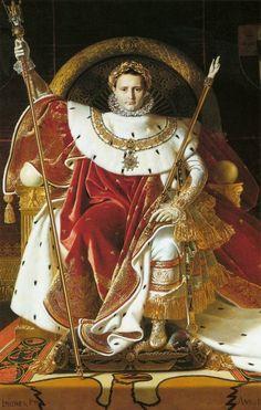 """Staatsieportret """"The Sun Emperor"""" himself Napoleon Bonepart a man who truly revolutionized an era. Let ook op de attributen die hij in dit portret bij zich heeft om zijn roem kracht bij te zetten."""