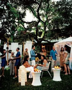 This is Real Simple's concept of the perfect summer solstice party--not so far off from my own.