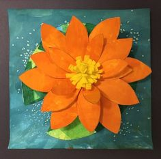 Grade Art Lessons – Art with Mrs Filmore Summer Art Projects, 2nd Grade Art, Orange Art, Art Lessons Elementary, Elements Of Art, Art Lesson Plans, Water Lilies, Art Plastique, Teaching Art