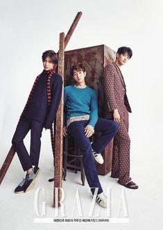 Taemin Onew Minho Grazia B cut(? Minho, Onew Jonghyun, Lee Taemin, Shinee Members, Shinee Debut, Grazia Magazine, Korean K Pop, Kim Kibum, Kinds Of Music