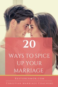 20 Ways to Spice Up Your Marriage - Restore Amor Advice For Newlyweds, Best Marriage Advice, Marriage Humor, Save My Marriage, Marriage And Family, Communication In Marriage, Intimacy In Marriage, Biblical Marriage, Christian Wife