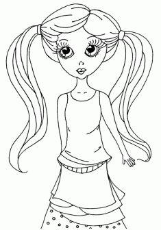 180 En Iyi Kız Boyama Sayfaları Girls Coloring Pages Görüntüsü