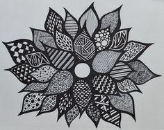 Sharpie flower - zentangle - SF