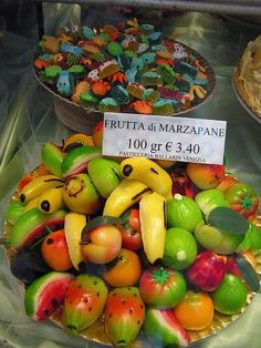 marzipan. I used to make this with my grandmother over 50 years ago, I love it!