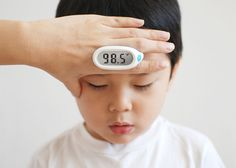 The Lunar Baby Thermometer was inspired by parents' natural tendency to place their hand on their child's forehead in order to check their temperature.
