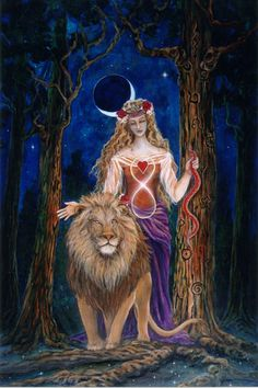 Beautiful Tarot Cards with Art Symbolism by Cathy McClelland: Seen here: Card 8 Strength: Discovering Your Inner Truth Courage Strength Tarot, Inner Strength, Star Tarot, Tarot Major Arcana, Leo Lion, Mystique, Oracle Cards, Tarot Decks, Archetypes