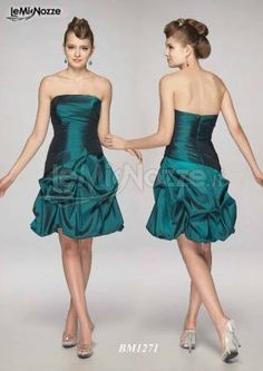 Abiti eleganti verde smeraldo