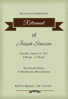 retirement party invitations template xizvtxm  retirement or, party invitations