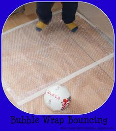 Play and Learn Everyday: Bubble Wrap Bouncing
