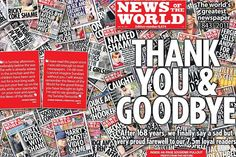 """Final edition of the News of the World. """"News Corp 'in clear' in US over phone hacking""""  http://www.thetimes.co.uk/tto/business/industries/media/article4342643.ece"""
