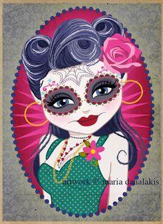 Maria Danalakis Art + Design + Illustration: Dia De Los Muertos at ZaPow!