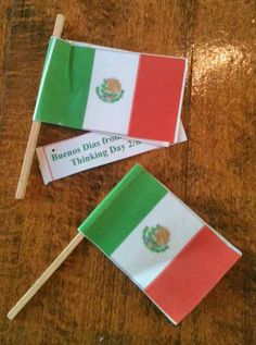 Girl Scouts Swaps Mexico Thinking Day 2013 Flag on toothpick  @Eileen Delaney