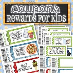 Reward/Gift Coupons for Kids - INSTANT DOWNLOAD from Timesavors on TeachersNotebook.com - (7 pages) - A fun and easy way to reward or give gifts to kids. With 17 different coupon ideas, these make great gifts for birthdays, holidays, and reward incentives.