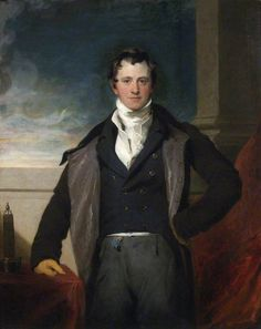 Thomas Lawrence: Portrait of Humphry Davy. Ca 1821. National Portrait Gallery, London. Only the very top of the collar is folded down over the cravat.