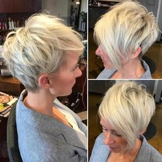 Airy Feathered Blonde Pixie