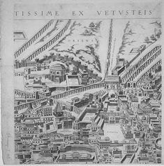 "Pirro Ligorio's ""Antiquae Urbis Romae Imago"" (Image of the Ancient. Ancient Ruins, Ancient Rome, Rome Map, Roman Empire, City Photo, Vintage World Maps, Prints, Art Pieces, January"