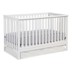 Keep your baby comfortable during naptime and entertained during playtime with the Storkcraft Hillcrest 3-in-1 Convertible Crib. This convertible crib is made using manufactured wood, which ensures years of reliable use. It is available in various finishes, which allows you to choose the one that best suits your child's room. This crib can be converted into a daybed or full-size bed. This Hillcrest 3-in-1 Convertible Crib from Storkcraft is compatible with standard size mattress. It is le...