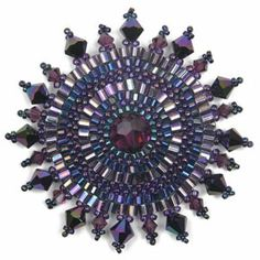 Crystal Sunflower Brooch