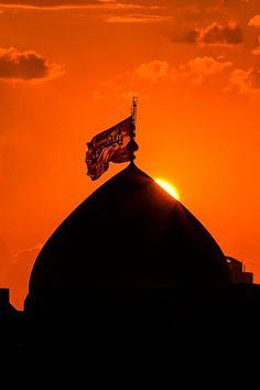Dome of Imam Hussain (A.S) in Karbala, Iraq Imam Hussain Karbala, Hazrat Imam Hussain, Karbala Iraq, Allah, Islamic Wallpaper Hd, Imam Hussain Wallpapers, Karbala Photography, Islamic Posters, Islamic Quotes