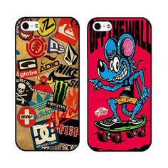 Skateboard Logos Cover Case For iPhone 6 6 Plus 5 5s 5c 4 4s iPod 5 Ultra Phone Cases Exempt postage wholesale and retail(China (Mainland))