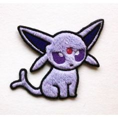 Pokedoll: Espeon (Fuzzy Style Minky) - Pokemon Machine Embroidered... (51 VEF) ❤ liked on Polyvore featuring pokemon